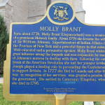 Plaque for Molly Brant