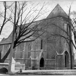 This 1913 image of St. Paul's Church published in Kingston Illustrated clearly shows the wall. (Collection Jennifer McKendry)