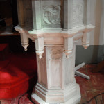 Baptismal font in St. Paul's Church