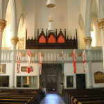 Looking toward the entrance of St. Paul's Church