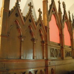 Reredos moved from the chancel to the Gallery