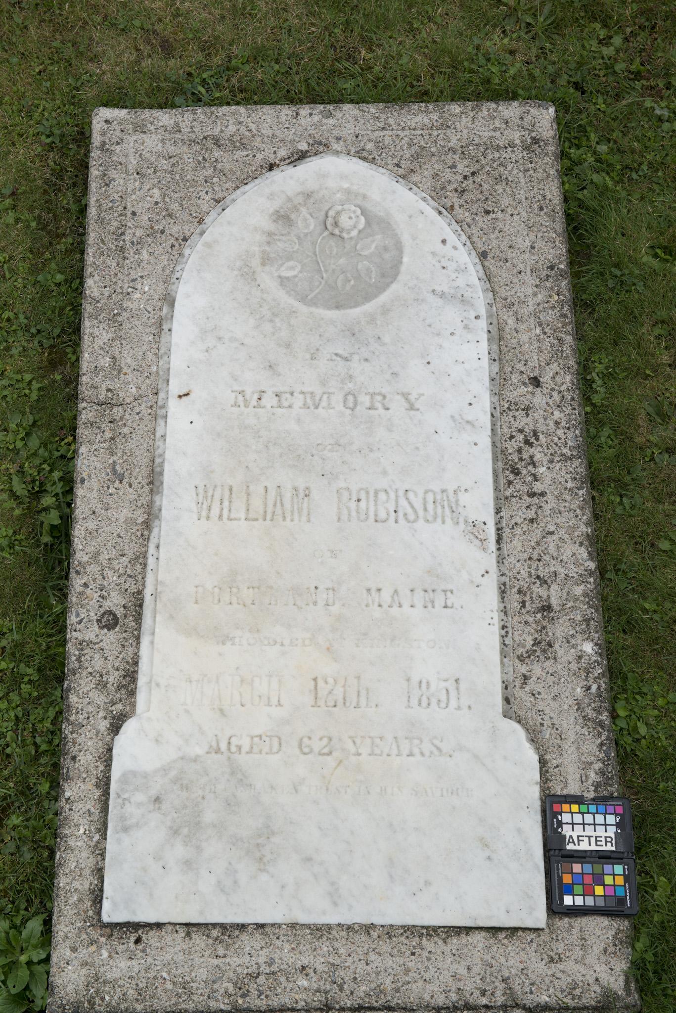 Marker for William Robison (Alex Gabov)